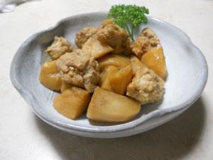 里芋と鶏だんごのほっこり煮